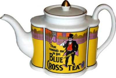 Blue Cross Teapot