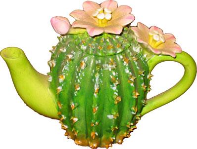 Mini Cactus Teapot