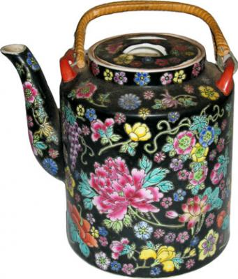 Ornamental Flowers Teapot